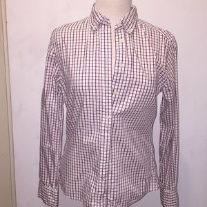 Tommy Hilfiger Red Checked Blouse🐝 Size 8